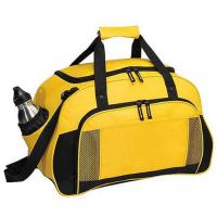Buy cheap Yellow Canvas Leather Travel Luggage Bags With Two Seperate Pocket from wholesalers