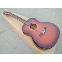 China AAAA all Solid 12 strings customize guitara 12 string OM all solid mahogany wood acoustic electric guitar wholesale