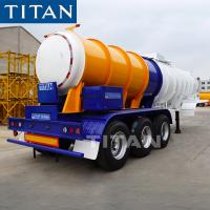 China TITAN Hydrochloric Acid Chemical Tanker V Shape Transport Trailer For Sale wholesale