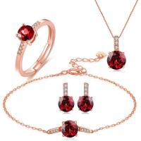 China Rolo Chain Gemstone Jewelry Sets Chain Necklace Bracelet Ring Earrings 925 Silver wholesale