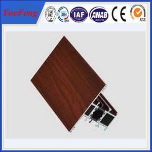 China Hot! aluminium window manufacturer, wood color aluminum profile for sliding window on sale