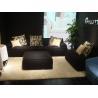 China Modern Hotel Lobby Sofas , Black Leisure Modern Fabric Sofa , Leisure style sofa wholesale
