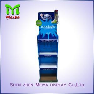 Eco Duribility Custom Cardboard Display Stands / Floor Cardboard Display Unit