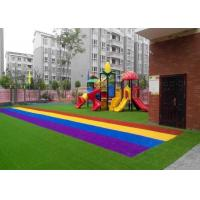 China Anti UV Autumn Spring Coloured Artificial Grass Synthetic Turf SGS CE Certification wholesale