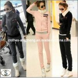 China Women Casual Sport Suit Twinset Hoodie+Pants Thicken Berber Fleece Sportswear Lady′s Sweatshirt Set wholesale