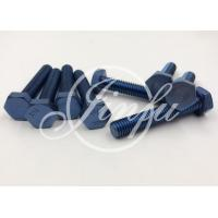 China Blue Color Grade 5 Titanium Fasteners Low Density For Engineering Project wholesale