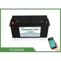 China High Rate Discharge 12V 200Ah Bluetooth Lithium Battery Lifepo4 Cells wholesale