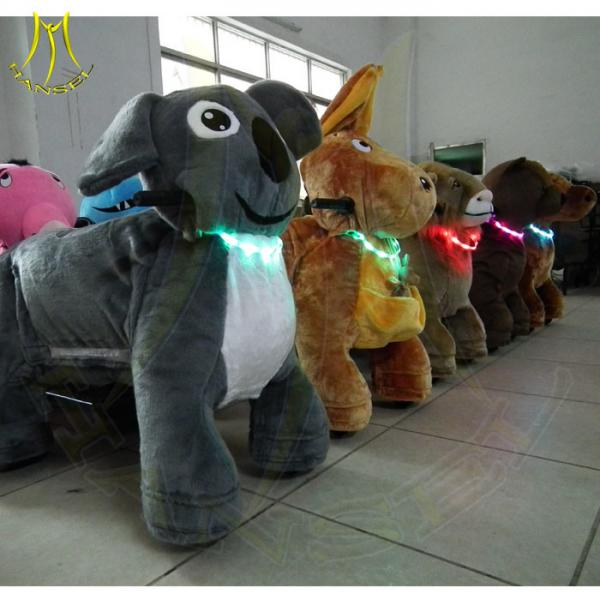 Quality Hansel battery operated ride on toys indoor amusement park equipment amusement park rides names cheap animal plush toy for sale