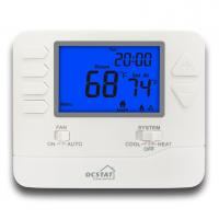 Buy cheap Blue Backlight Electric or Gas Boiler HVAC 24V Digital Heating Room Thermostat from wholesalers