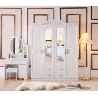 China White Antique Style MDF material Wardrobe With Trouser Rack Multi Door Optional on sale