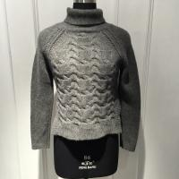 China Ladies Cable Knitted Wool Loose Knit Sweater , Long Sleeve Turtle Neck Sweater Pullover wholesale