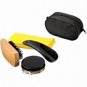 China Promotional Travel Shoe Shine Kit/Shoe Polishing Kit, Made of PU wholesale