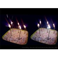 China Long Thin Birthday Sparkler Candles Earthy Yellow 11g 0.26 * 9.9cm Wax Material wholesale