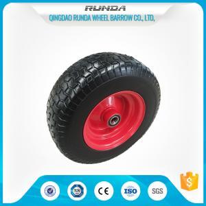 "China ATV Pneumatic Heavy Duty Trolley Wheels16""X6.50-8 Ribbed Pattern Straight Valve wholesale"