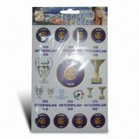 Buy cheap Fashionable Football Sticker, Easy to Apply and Remove, Available in Various Sizes and Colors from wholesalers