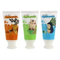 China Kids Toothpaste Plastic Cosmetic Tubes 3g Blue Labeling Round White Flip Cap on sale