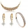 High-Grade Jewelry Accessories Set Necklace Bracelet Zircon Earring