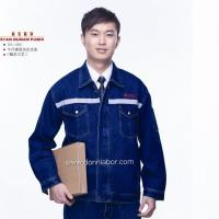 China Wholesale Factory Price Jeans Outdoor Protective Labor Uniform with Flame Tape on sale