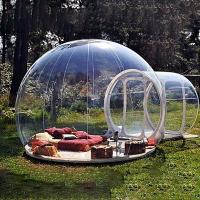 China Lightweight Inflatable Geodesic Dome Tent With Frameless Bay Window wholesale