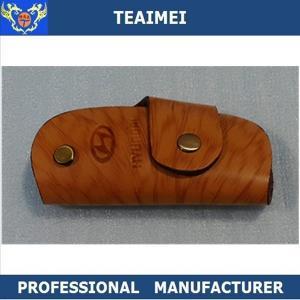 China Promotion Mini Cow Leather Key Case Key Wallet Holder For Hyundai wholesale