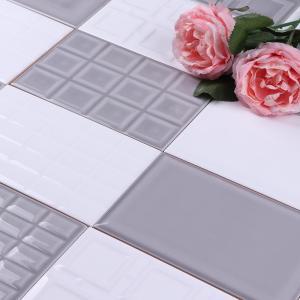 China 12x18 Glazed Ceramic Bathroom Wall Tiles , Durable Modern Bathroom Tiles on sale