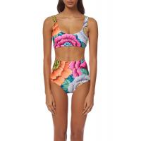 China High Waisted Floral Printing Womens Swimming Suits Tie Knot  2 Pcs Sets Swimwear on sale