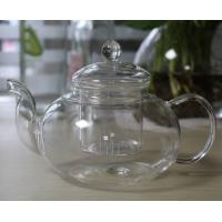 China 600ml Heat Resistant Transparent Glass Teapot with Infuser and Lid Glass Coffee Pot wholesale
