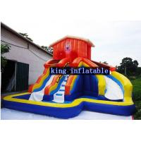 China Kids Inflatable Water Slide Waterproof Backyard Bounce House Swimming Slides Pool on sale