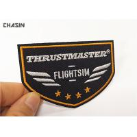 China Airline Uniform Clothing Embroidery Patches / Custom Embroidered Iron On Patches wholesale
