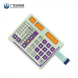China Metal Dome Membrane Switch Custom Pet Printing Circuit Fit Control PET Keypad on sale