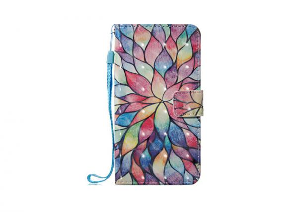 Quality Colorful Church Glass Pu Leather Flip Phone Case For IPhone X Shockproof for sale