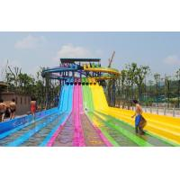 China Adult Water Park Equipment / Outdoor Playground Water Slide Customized Size wholesale