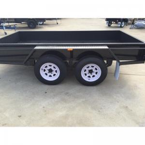 China 4500 quilogramas que carregam o reboque em tandem da caixa 10x6 resistente com o freio wholesale