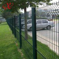 Buy cheap 200*55mm Green Pvc Coated Welded Wire Mesh Fence Panel High Anti - Corrosion from wholesalers