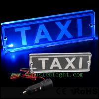 China Blue LED Transparent PMMA TAXI Board Neon Light Lamp Car Power on sale
