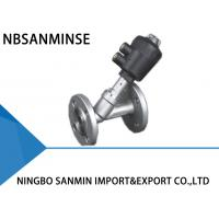 China Professional JDF 400 Pneumatic Angle Seat Valve High Effective Sealing With Flange on sale