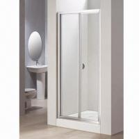 China Recess Bifold Door, 6mm Safety Glass Shower Enclosures, Can Open Inside or Outside wholesale