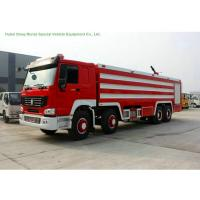China Multi Purpose HOWO 8x4 Fire Pumper Truck With Water Tank 24 Ton For Fire Fighting wholesale