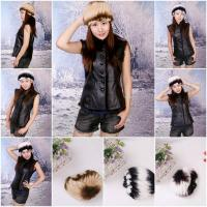 Buy cheap Women's Fur Hat Rex Rabbit Fur Hat Fur Cap Rex Rabbit Fur Headgear Fur Chapeau Gradien 3 Colors from wholesalers