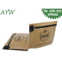Buy cheap Brown Kraft Paper Child Resistant Bags For Edible Cannabis Seeds Packaging from wholesalers