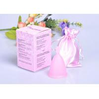 China Eco-Friendly Feminine Reusable Menstrual Cup Of 100% Platinum Silicone wholesale
