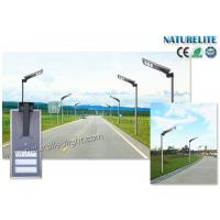 Buy cheap Project Outdoor Motion PIR Sensor All in One 50W LED Street Solar Lights Smart Dimmable Energy Powered Lights from wholesalers