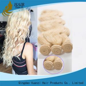 Cheveux 100%, cheveux brésiliens blonds d'armure de cheveux durables de Remy de Vierge