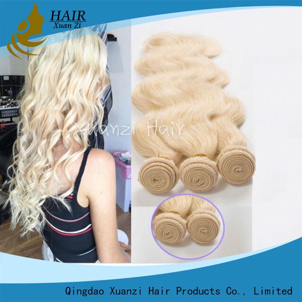 Quality Cabello humano brasileño rubio 100%, pelo duradero de la armadura del pelo de Remy de la Virgen for sale
