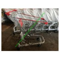 China Store / Supermarket Shopping Cart / Cargo Trolley With PU Wheels wholesale
