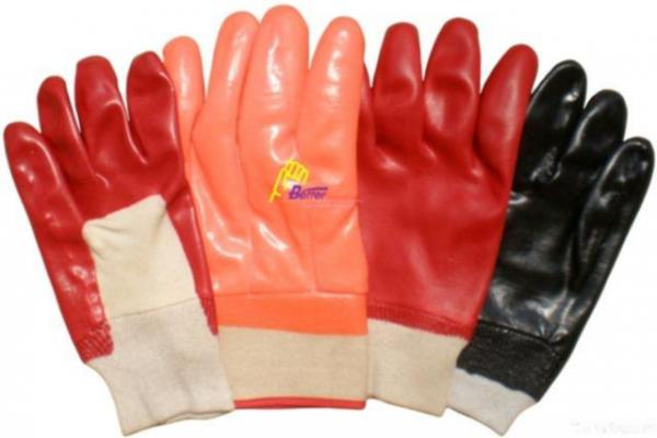 Quality Red Pvc Coated Gloves for sale