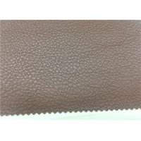 China Home Furnishing Brown Faux Leather Fabric Fire - Retardant 0.8 Mm Thickness on sale