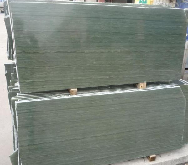 Quality Decorative Green Wood Vein Marble texture Slab Tile for sale