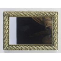 China Antique Bronze Large Rectangular Wall Mirror / Full Wall Mirrors Beaded Line wholesale