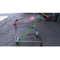 China 150 Litres Wire Shopping Trolley For Mall , American Style Steel Hand Push Cart wholesale